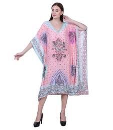 Pink Embroidered Silk Kurti