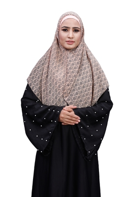 Justkartit Ivory Color Occasion Wear Women Chiffon Square Scarf Hijab