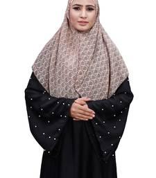 Justkartit Ivory Color Occasion Wear Women Chiffon Square Scarf Hijab