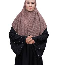 Justkartit Purple Color Daily Wear Women Chiffon Square Scarf Hijab