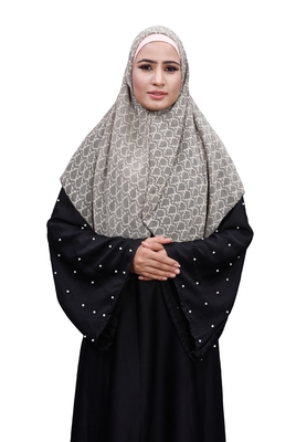 Justkartit White Color Daily Wear Chiffon Square Scarf Hijab For Women