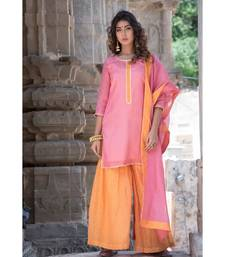 PEACH GHARARA SET