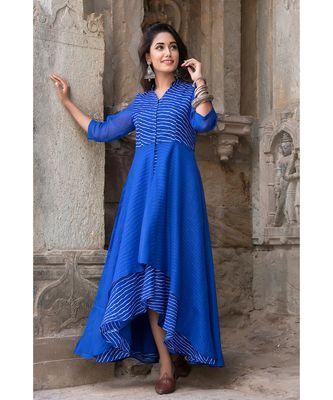 BLUE ASSYMETRIC DRESS