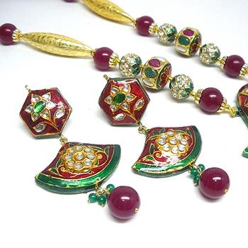 imitation kundan meena jewellery