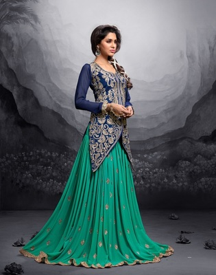 Multicolor multi resham work silk salwar