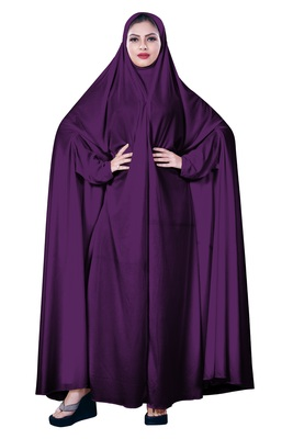 Women'S Causual Wear Hosiery Plain Arabic Style Chaderi Burkha