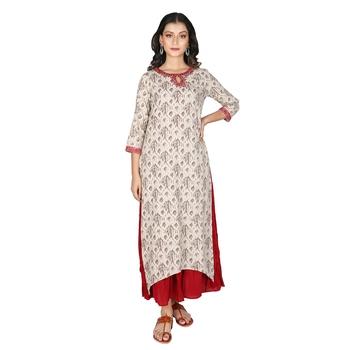 Women's Kashish Cotton Printed Long Kurti