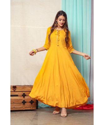 Turmeric Yellow Gotta Design Dress