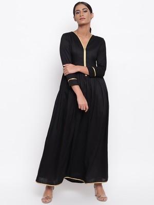 Black Gold Lace Dress