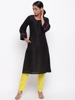 Black Broad Sleeve Kurta-Pant