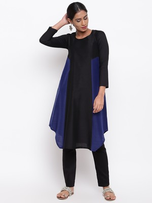 Black Blue Kurta-Pant