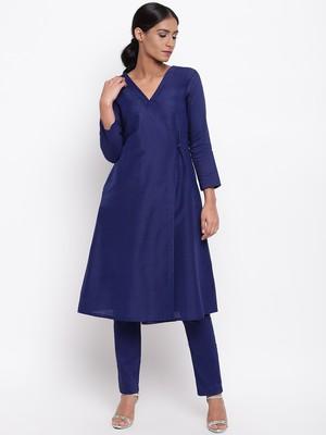 Blue Angrakha-Pant