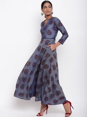 Blue Booti Dress