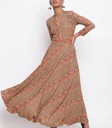 Mud Orange Dress