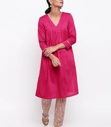 Pink Kurta Stem Foil Pant