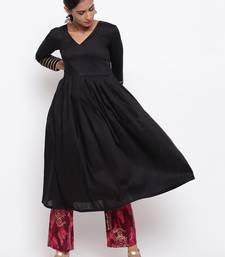 Black Kurta Pink Foil Pant