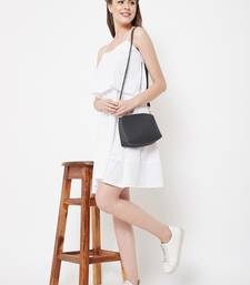 White plain cotton short-dresses
