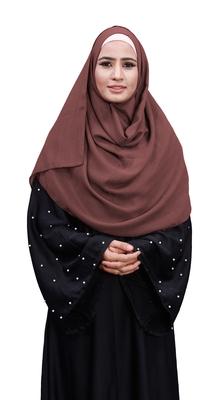 Justkartit Peach Color Linen Cotton Scarf Hijab For Women