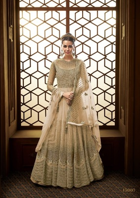 Royal Villa Being colour EMBROIDERED NET SEMI STITCHED SALWAR WITH DUPATTA