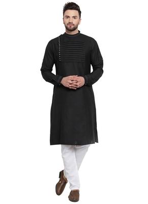 Designer Black Linen Kurta Pajama