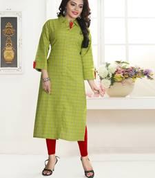 Green Printed Cotton Kurtis