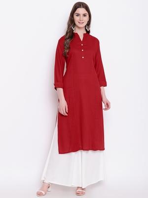red printed viscose ethnic-kurtis
