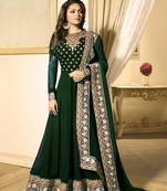 Buy Green embroidered faux georgette salwar