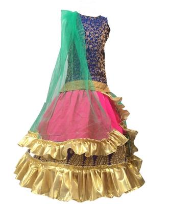Aglare hot pink,blue iBaby gilrl Lehenga choli choli,without dupatta,fully stitched. separate sleeve