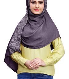 Justkartit Women Purple Color Cotton Scarf Hijab Dupatta