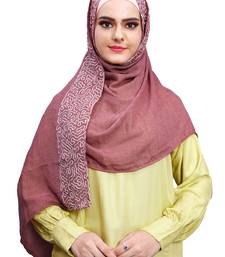 Justkartit Embroidery Soft Cotton Scarf Hijab For Women (Salmon)