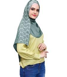 Justkartit Women Soft Cotton Embroidery Scarf Hijab Dupatta (Turquoise)