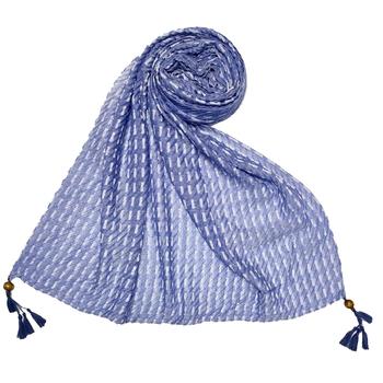 Blue  Stole For Women  Premium Cotton Hand Work Thread Hijab