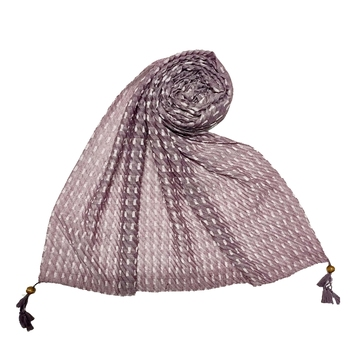 Purple Stole For Women  Premium Cotton Hand Work Thread Hijab