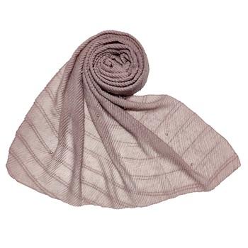 Purple Stole For Women  Premium Cotton Crush Designer Diamond Studed  Stole