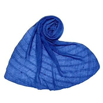 Blue  Stole For Women  Premium Cotton Crush Designer Diamond Studed  Stole