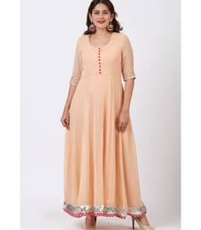Peach Love Floor Length Anarkali Dress
