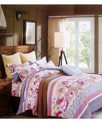 Trendy Printed Double Bedsheets with two pillow cover