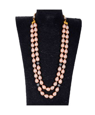 Pink Baroque Pearl Royal Look Beautiful Necklace