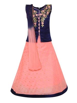 Pink Silk Blend Lehnga Choli