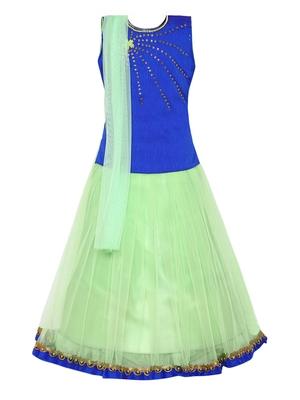 Blue Silk Blend Lehnga Choli