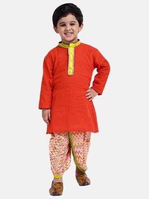 Boys Jaipuri Print Cambric Cotton Dhoti Kurta