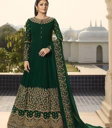 Green Party Wear Faux Georgette Anarkali Salwar Suit