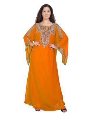 ELEGANT ISLAMIC ARABIC KAFTAN DRESS FOR WEDDIN GOWN PARTY WEAR DRESS
