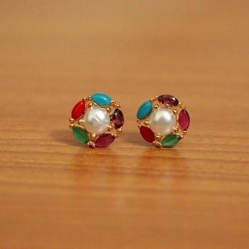 Multicolor Pearl Studs