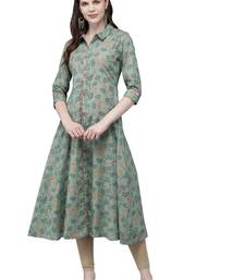 Emerald printed viscose ethnic-kurtis