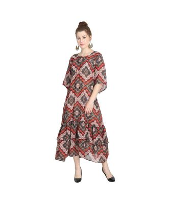Digital Flare Kurti with slip