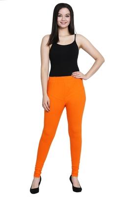 Orange Rubi cut with miyani Legging