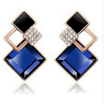 Blue Trendy Fashion Studs Party Danglers