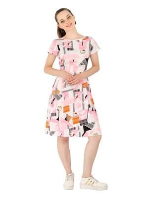 Women's Crepe MultiColour Casual Mini Dress