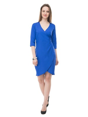 Women's Blue BodyCon Short Dress